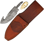 BLSODMBL2 Damascus Guthook With Sheath
