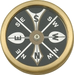 MR223 Marbles Large Pocket Compass.