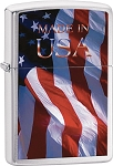 ZO24797 Zippo Made In The U.S.A. Flag.