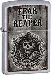 ZO28502 Zippo Sons of Anarchy Fear the Reaper. Satin Chrome.